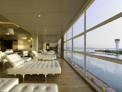 In February 2011, three Hilton Maldives resorts opened a shared luxury lounge for guests arriving at Male International Airport. While they wait for the seaplane ride to a resort, guests receive complimentary shoulder massages, hot and cold food, Wi-Fi and access to posh indoor and outdoor seating.