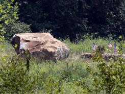 A 17-ton boulder was placed to mark the site of the crash of Flight 93 at the National Memorial in Shanksville, Pa.
