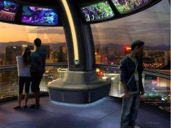 A rendering of the interior of a pod on Las Vegas' planned giant wheel.