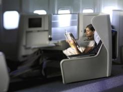 British Airways offers lie-flat beds on some flights.