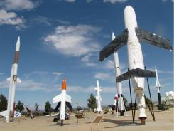 The White Sands Missile Park presents a sculptural array of used rockets, missiles, launchers and more.