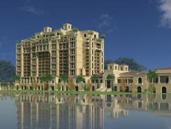 Artist's rendering of the proposed Four Seasons resort at Walt Disney World.
