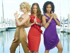 "From left, Rachael Taylor, Minka Kelly and Annie Ilonzeh, stars of the ABC series ""Charlie's Angels,"""