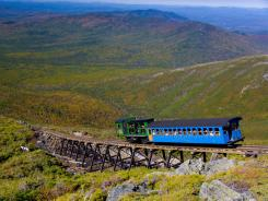Climb aboard New Hampshire's Mount Washington Cog Railway for fall foliage photo ops.