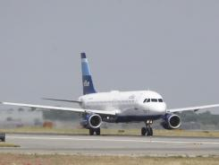 A jetBlue airplane at John F. Kennedy International Airport in New York. JetBlue had a 61.6% on-time rate in August, making it the worst performing carrier.