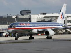 An American Airlines plane at Miami International Airport.