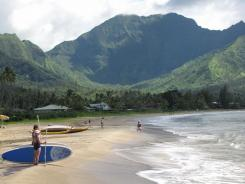 Hanalei means &quot;crescent shaped,&quot; a perfect description for this wide, nearly two-mile-long beach. Generally calm during the summer, it's a magnet for experienced surfers during the wilder winter months.