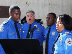 TSA spokesperson Nico Melendez confirms that the LAX TSA choir is scheduled to perform Dec. 20th and 22nd  in the public area of the L.A. Airport's international terminal.