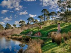 A view of 'Hobbiton' where the motion picture 'The Hobbit: An Unexpected Journey' is being filmed in New Zealand.