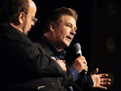 Alec Baldwin speaks Oct. 30 at an event of the Savannah (Ga.) Film Festival.