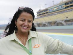 Alba Colon, GM Racing's Chevrolet program manager for NASCAR Cup Racing, at the 2011 NASCAR Sprint Cup Series at Homestead-Miami Speedway.
