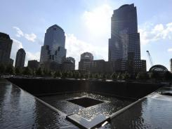 The north pool at the National September 11 Memorial & Museum at the site of the former World Trade Center complex.