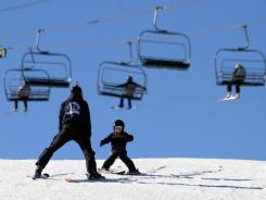 Skiers enjoy the slopes at the Mt. Rose Resort on Dec. 9, in Reno.