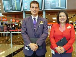 Changi Airport CEAs Max d'Alexandry and Ira Fanador on duty.