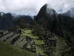 Machu Picchu, the Lost City of the Incas, in Peru, in April 2010.