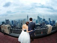 Weddings at Top of the Rock, the observation deck atop Rockefeller Center, can cost $2,000 and are extremely popular.