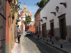 San Miguel de Allende features narrow cobbled streets and a large expat community.