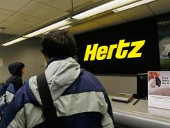 A Hertz car rental location in New York City.