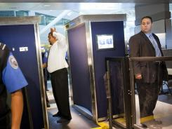 The backscatter X-ray full-body scanners can see through clothing and can screen passengers for explosives.