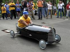 Larry the Cable Guy was won over by the nostalgia of soapbox derby in Salem, Ore., in his television show, 'Only in America with Larry the Cable Guy.'
