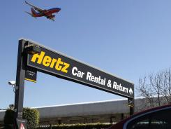 Rental car lots at Los Angeles International.