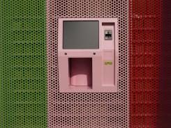 Sprinkles Cupcakes offers a 24-hour cupcake 'ATM,' which features a robotic arm to pull the right-flavored cupcake from a wall of single-serving boxes. The Beverly Hills, Calif., store continuously restocks the shelves to dispense fresh cupcakes.