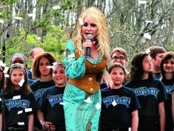 Dolly Parton officially opens The Wild Eagle coaster at Dollywood.