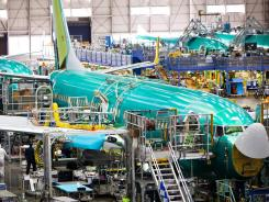 Boeing's Next Generation 737 takes shape at the company's Renton, Wash., plant.