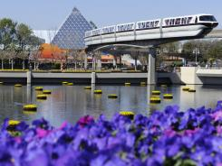 Epcot theme park, one of four at Walt Disney World Resort near Orlando.