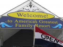 This March 20 photo shows the welcome center in Ocean City N.J., with the city's motto, America's Greatest Family Resort.