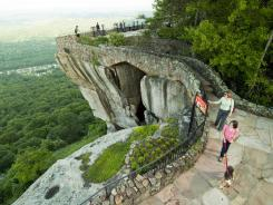 Lover's Leap, one of the well-known scenic spots along Rock City Garden's Enchanted Trail is shown at Lookout Mountain, Ga.