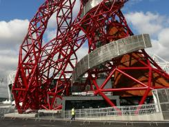 The ArcelorMittal Orbit tower before its official unveiling at the Olympic Park in London on May 11, 2012.