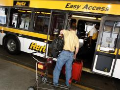 "Renters say Hertz is the best for business travel, leisure travel, counter staff, kiosk experience, loyalty program, ""green"" options, airport rentals, car return experience, shuttle service and website."