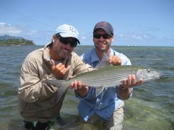 Many don't realize that they can fly-fish in the waters off Oahu, Hawaii. But the prey, bonefish, can be very hard to catch.