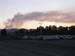 Smoke plume from High Park fire in Fort Collins, Colo.