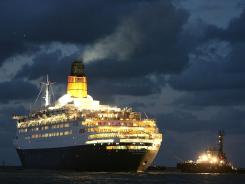The Queen Elizabeth II ship enters Port Phillip on Feb. 29, 2008, in Melbourne, Australia.