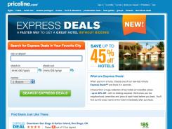 Priceline's new tool offers rates at up to 45% off published rates.