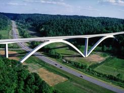 Double Arch Bridge is part of the Natchez Trace Parkway near Franklin, Tenn.