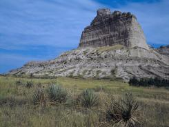 Scotts Bluff National Monument was a landmark for pioneers on the Oregon Trail.