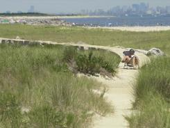Visitors can enjoy solitude at Gateway National Recreation Area in Sandy Hook, N.J.