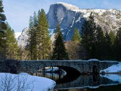 Stoneman Bridge with Half Dome in the background in Yosemite National Park, Calif.