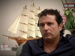 Francesco Schettino, the captain of the Costa Concordia, is seen during an exclusive interview with Italian TV channel Canale 5.