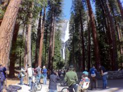 Fewer visitors are camping in national parks but rather are squeezing nature's highlights into day trips and seeing other sites around the park with remaining vacation time.