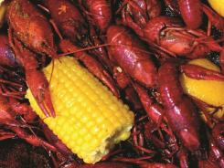 Crawfish is always on the menu at Big John's Seafood Patio, Erath, La.