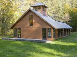 The LEED Certified Forest Center Building at the Marsh-Billings-Rockefeller National Historical Park.