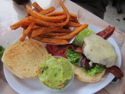 The Little Devil burger at Ray's with Vermont white cheddar, applewood smoked bacon and guacamole.