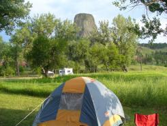 Belle Fourche Campground in Devils Tower National Monument, Wyo.