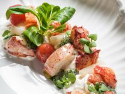 Marea in New York specializes in seafood. The name means 'tide.'