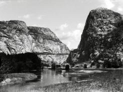 This pre-1913 file photo shows the Hetch Hetchy Valley in Yosemite National Park, Calif. This fall San Franciscans will vote on a local measure with national implications: it could return to the American people a flooded gorge described as the twin of Yosemite Valley.