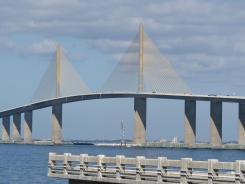 The Sunshine Skyway Bridge in the Tampa-St. Petersburg area.